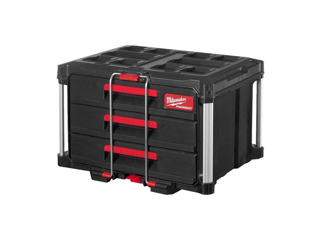 milwaukee packout box se tremi vysuvnymi zasuvkami 4932472130 detail4
