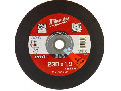 milwaukee rezny kotouc scs41 230mm pro uhlove brusky 4932451490