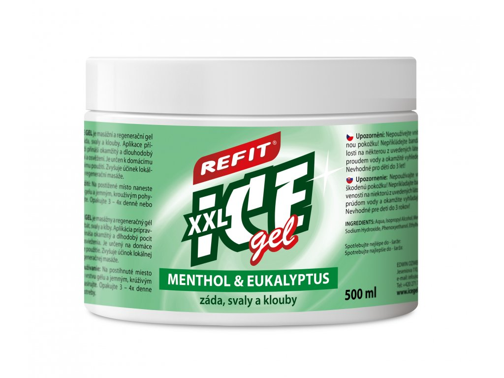 Refit Ice gel Menthol & Eukalyptus 500ml