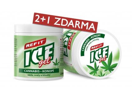 2+1 ZDARMA Refit Ice gel Cannabis Konopí 230 ml