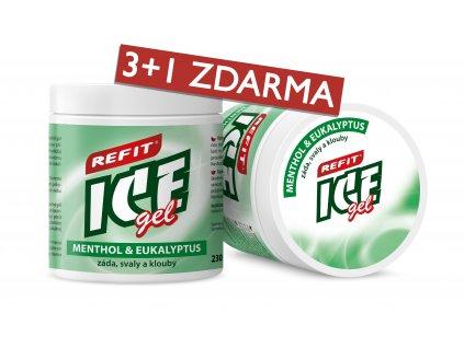 3+1 ZDARMA Refit Ice gel Menthol & Eukalyptus 230 ml