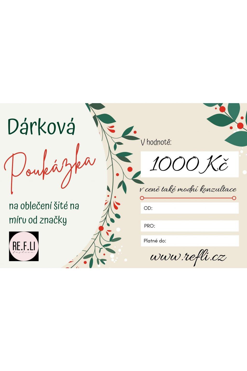 134 darkovy poukaz v hodnote 1000 kc