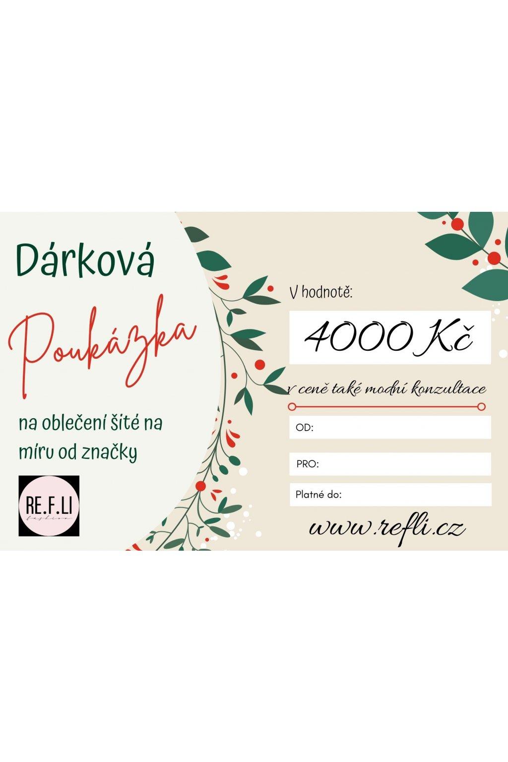 143 darkovy poukaz v hodnote 4000 kc
