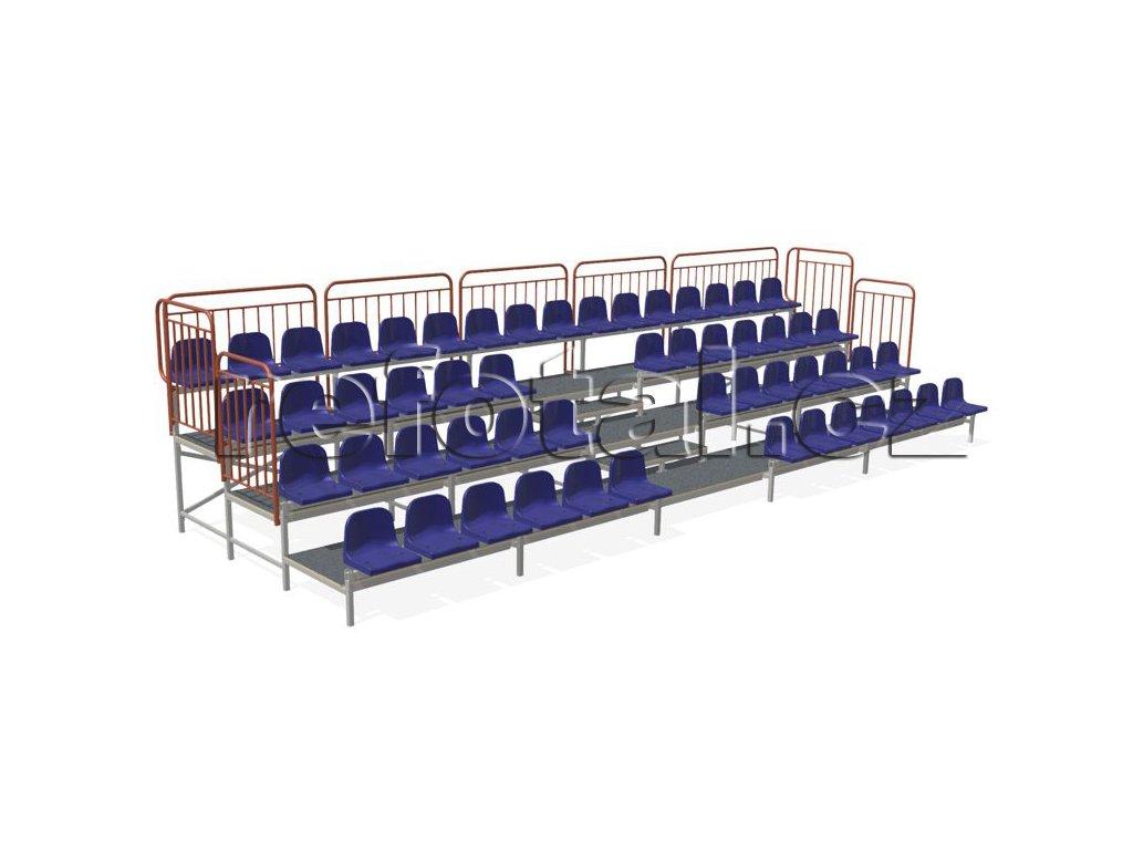 refotal stacionární sedačka 4 řady