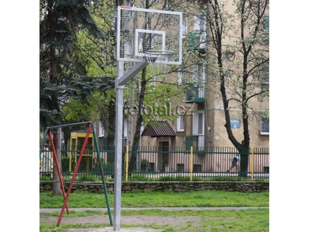 refotal basket konstrukce jednosloupová 90x120 cm uložení v zemním pouzdře