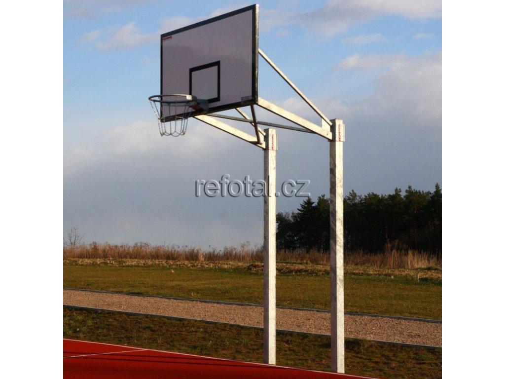 refotal basket konstrukce dvousloupová 105x180 cm instalace na pevno