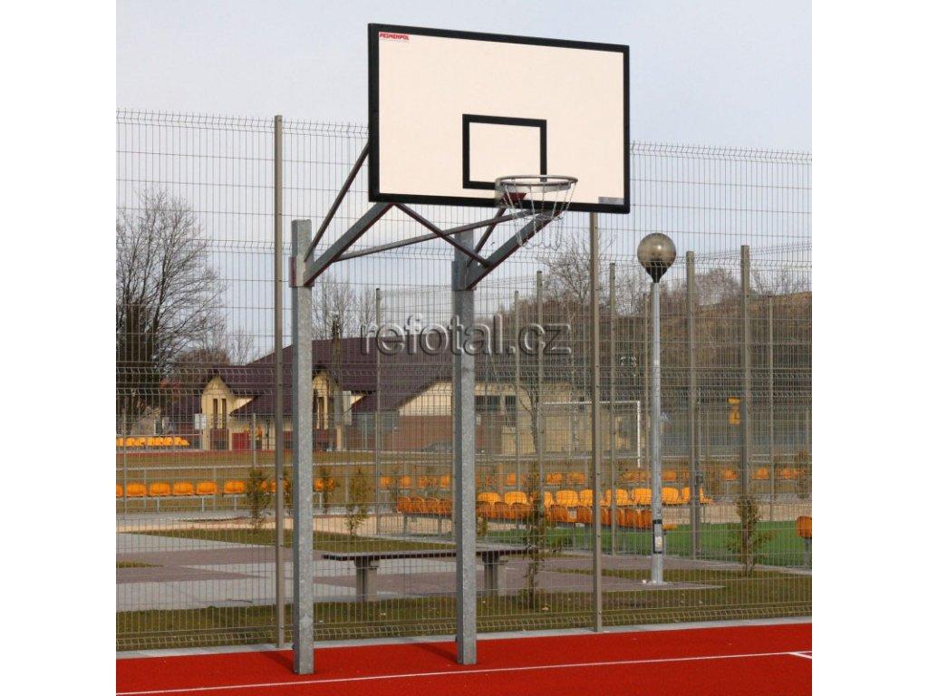 refotal basket konstrukce dvousloupová 105x180 cm instalace v tuleji
