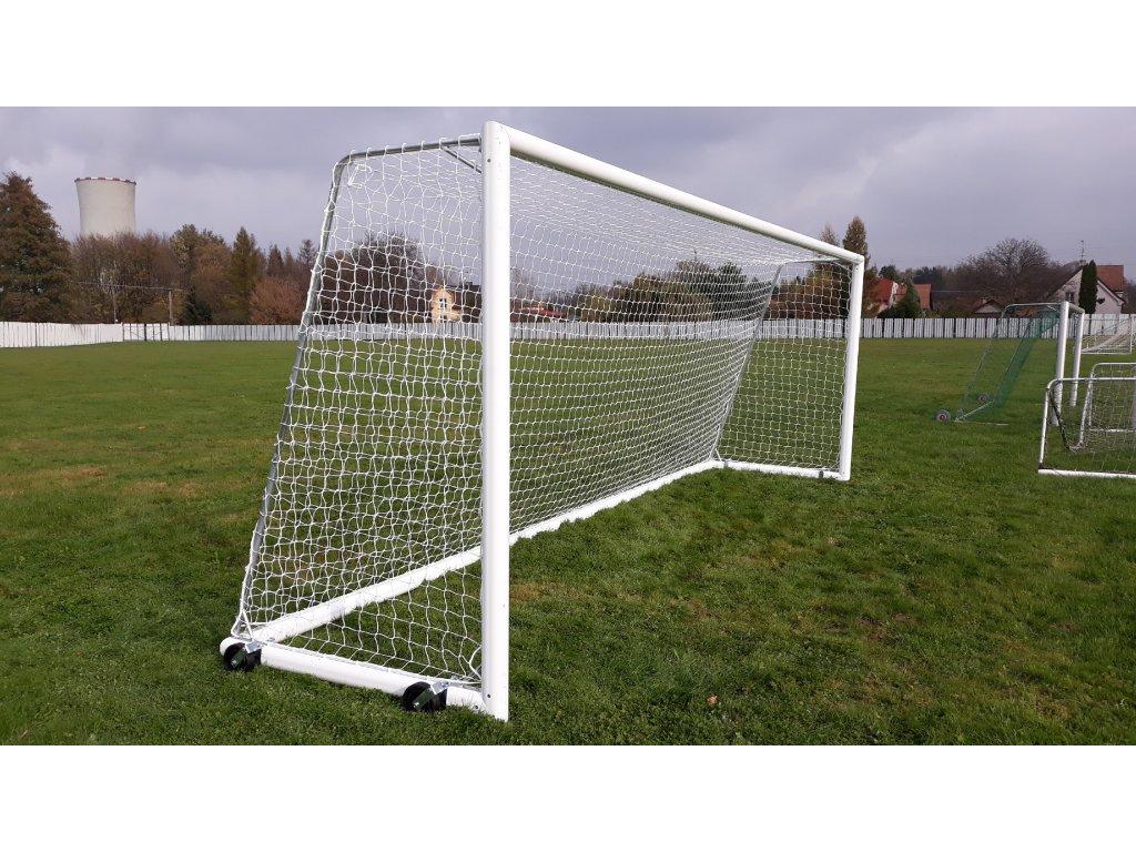 Fotbalová branka hliníková bezpečná  7,32 x 2,44 m