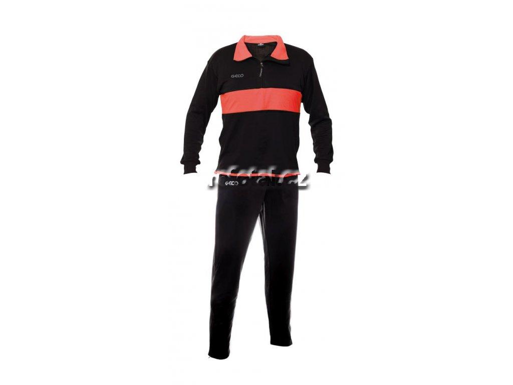 refotal Tréninková souprava Vento černo červená, dlouhé kalhoty
