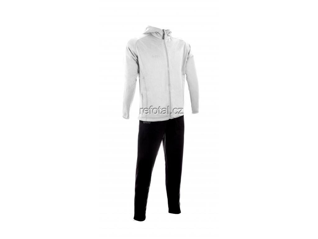 refotal Trainingsanzug Kapuze weiss schwarz v