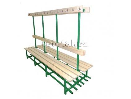 refotal šatní lavička dvojitá s věšákem 1