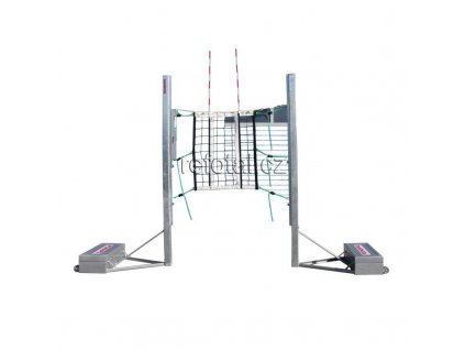 refotal volejbalové sloupky volně stojící, protiváha, profil 80x80 mm