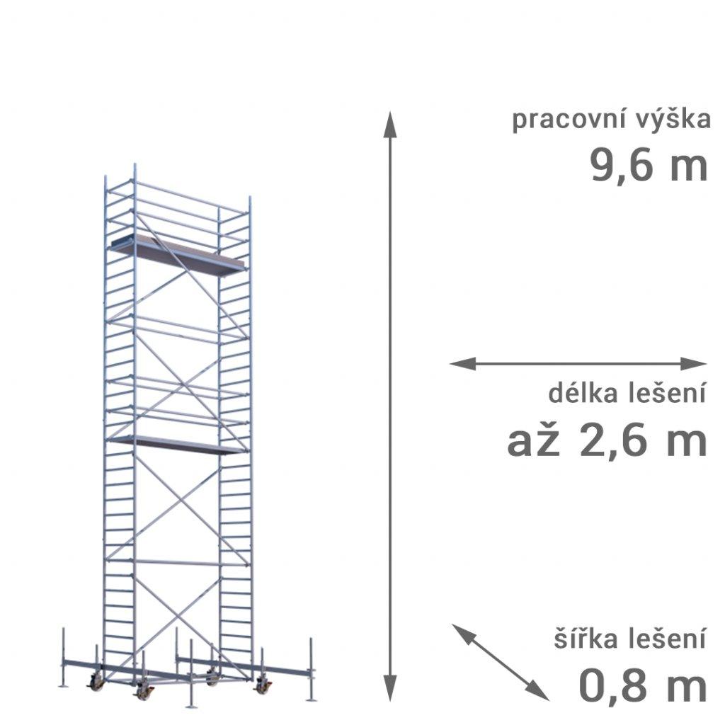 pojizdne leseni rux mobilo 800 vyska 96 1
