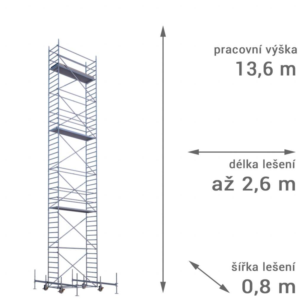 pojizdne leseni rux mobilo 800 vyska 136 1