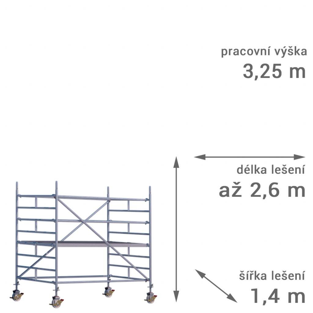 pojizdne leseni rux mobilo 1400 vyska 325 1