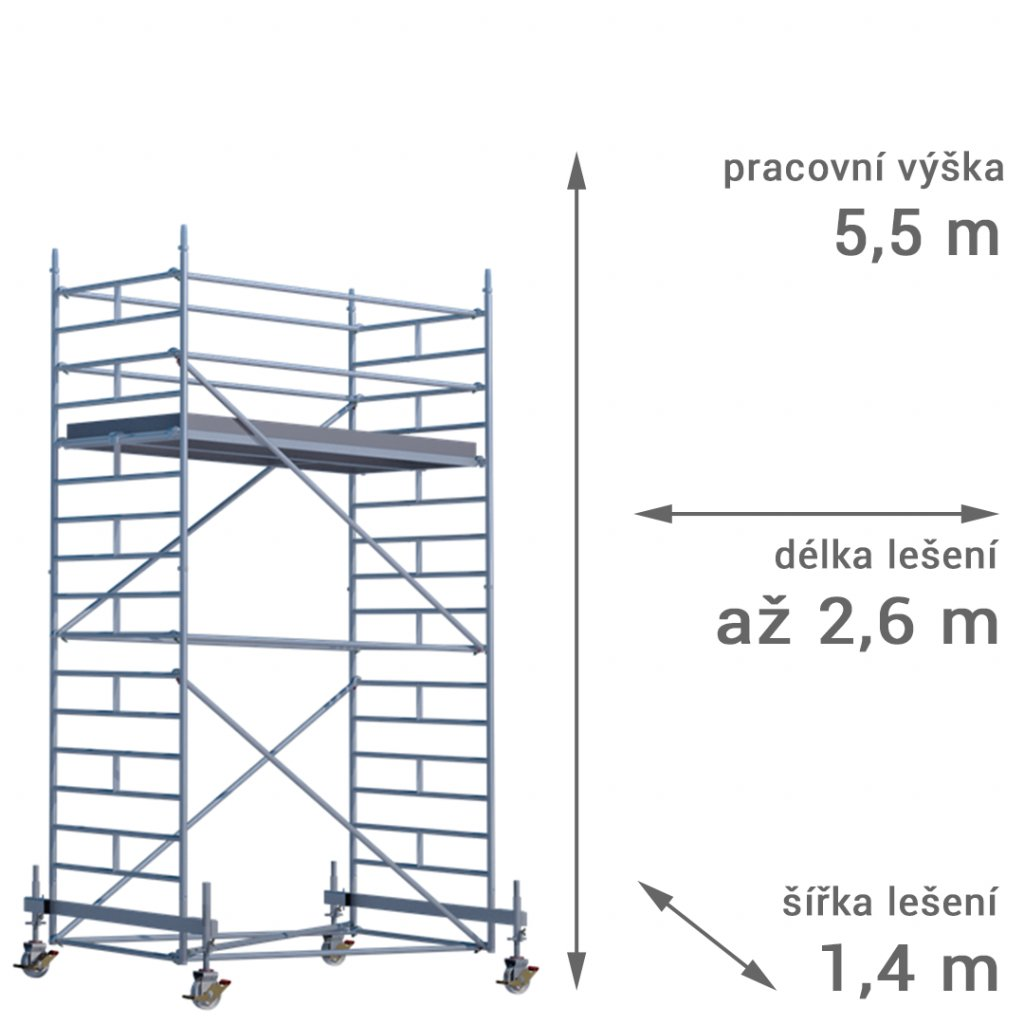 pojizdne leseni rux mobilo 1400 vyska 55 1