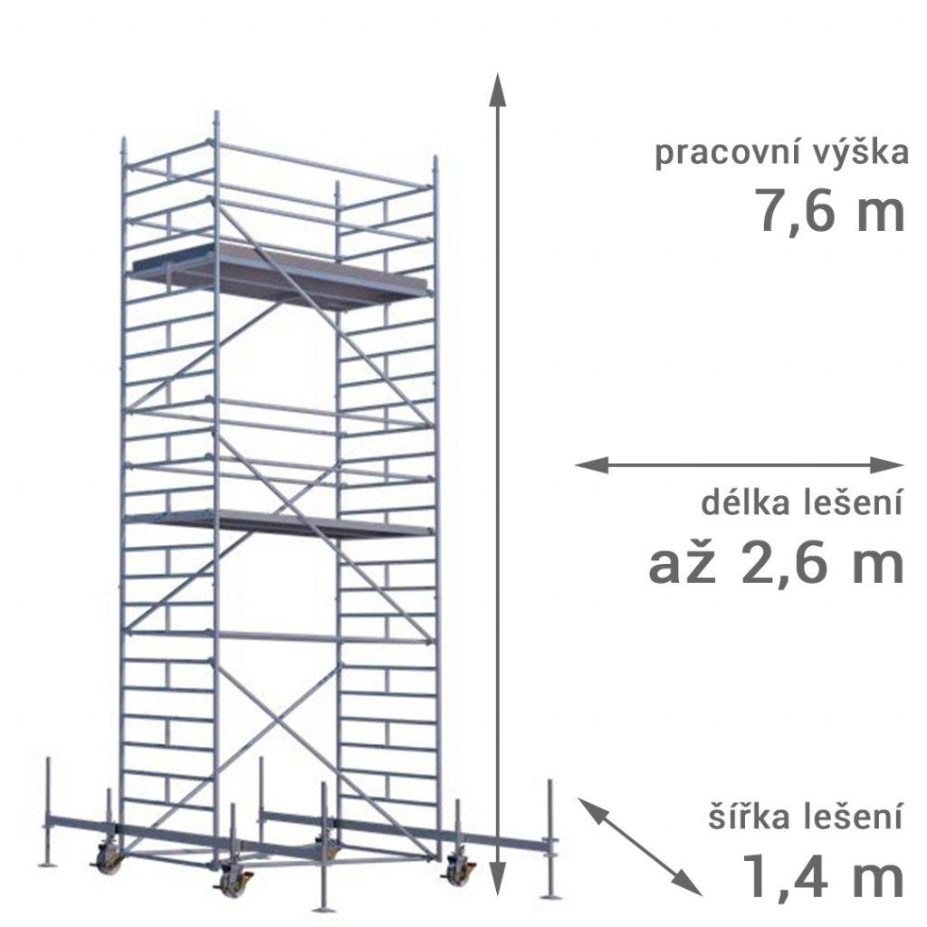 pojizdne leseni rux mobilo 1400 vyska 76 1