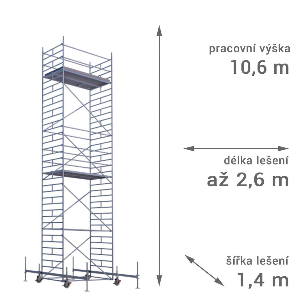 pojizdne leseni rux mobilo 1400 vyska 106 1