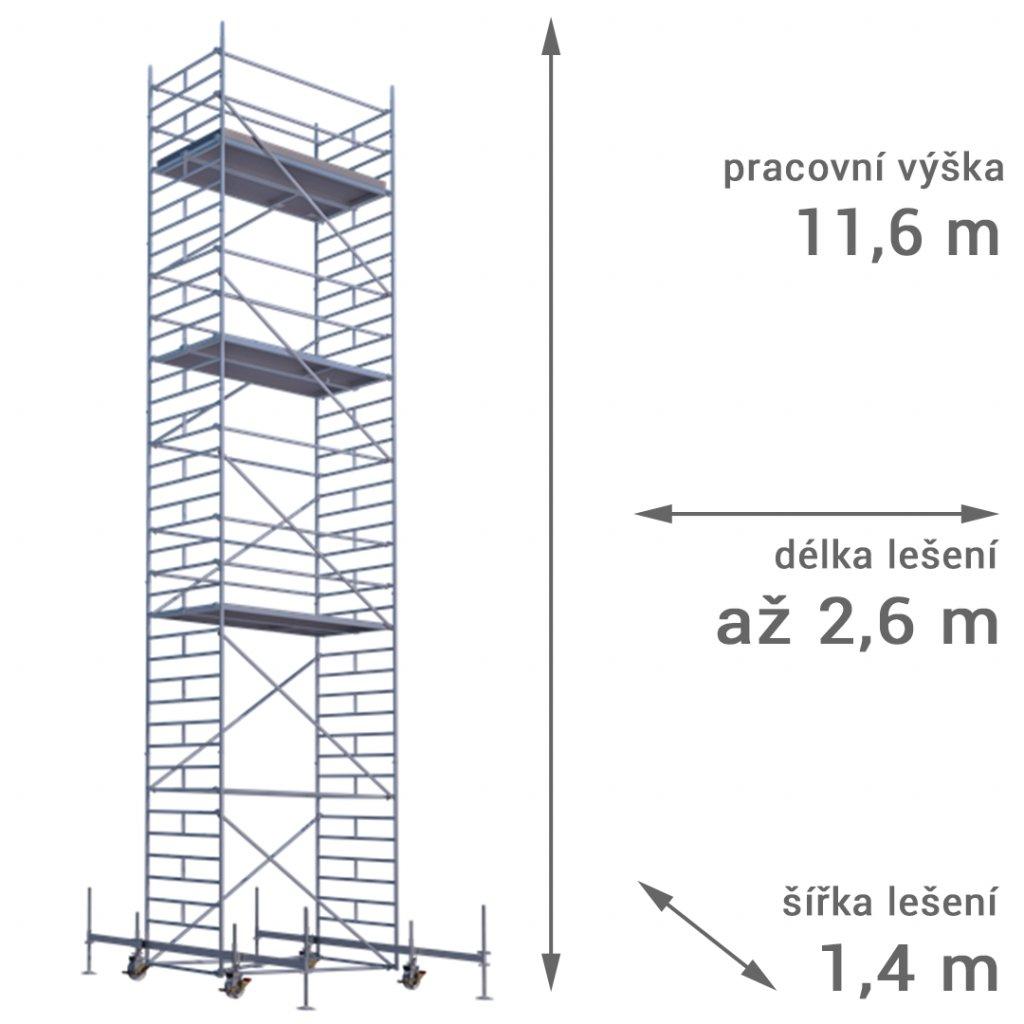 pojizdne leseni rux mobilo 1400 vyska 116 1