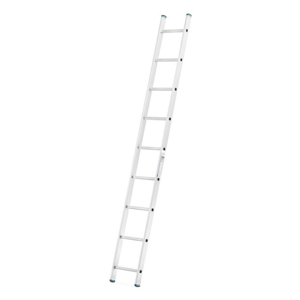 Hliníkový jednodílný žebřík výška 2,56 m 1