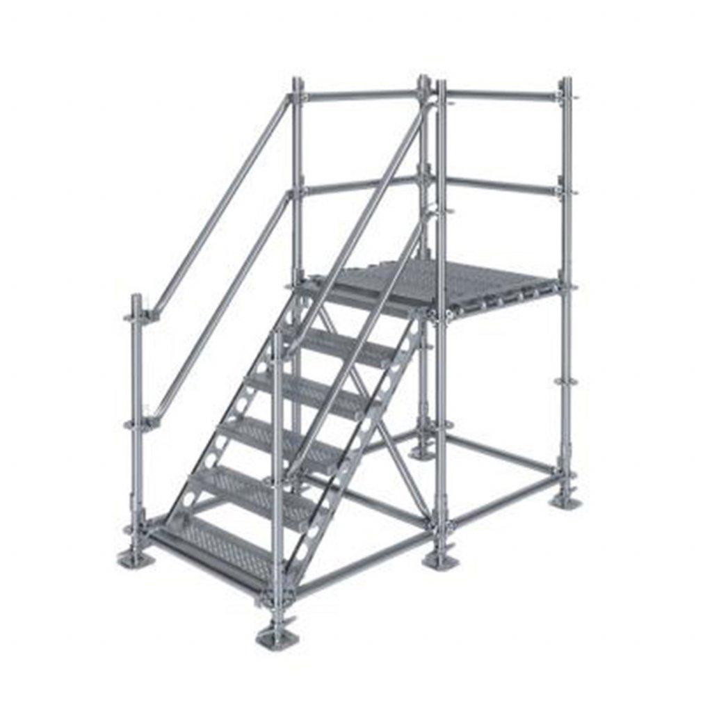 Samonosné venkovní schodiště s podestou - výška 1 m