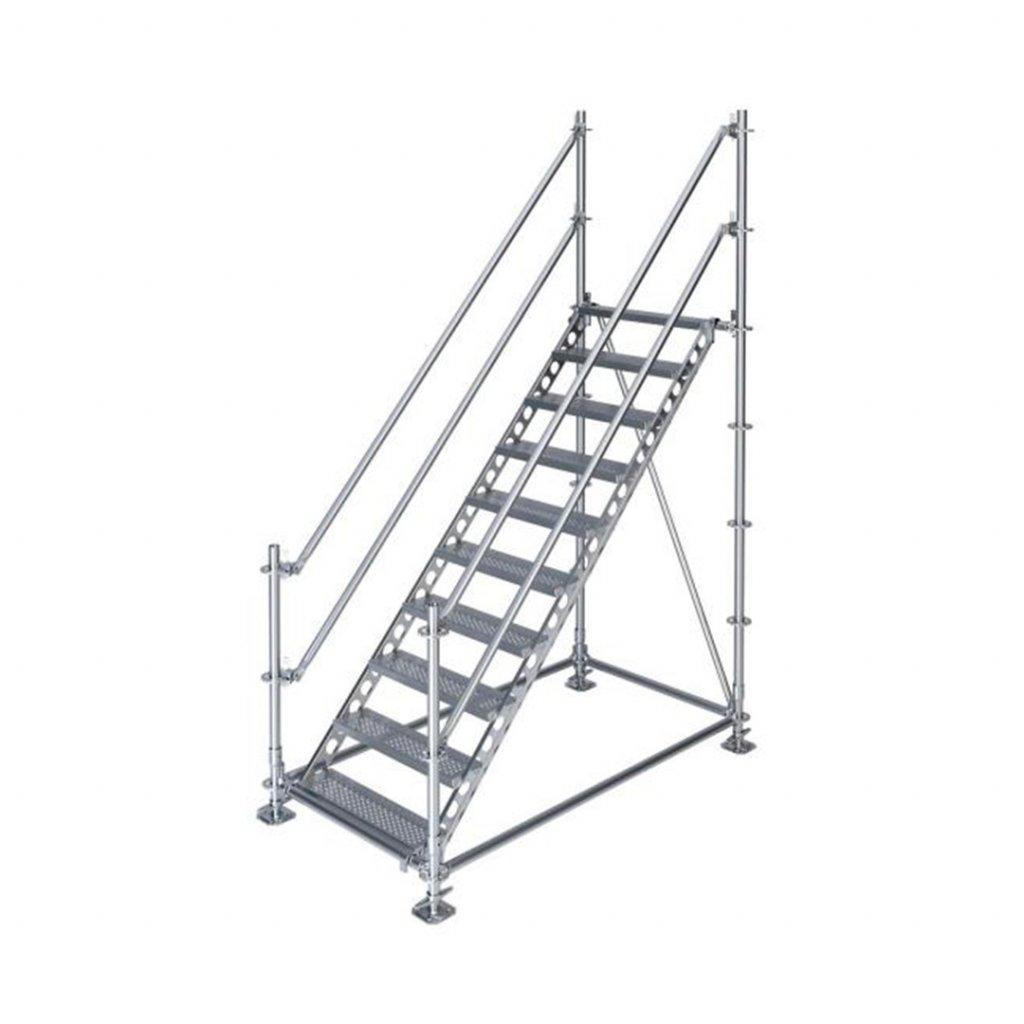 Samonosné venkovní schodiště - výška 2 m