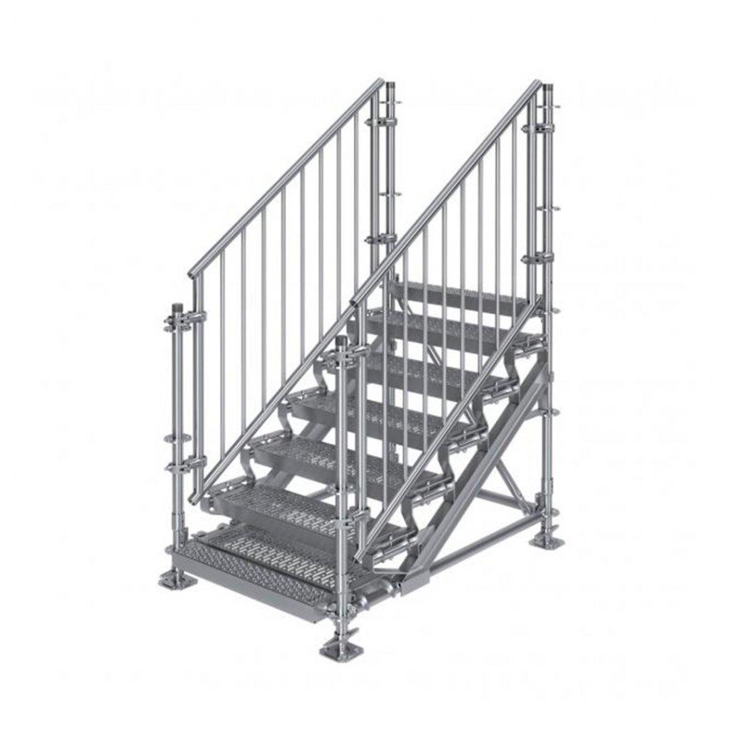 Samonosné venkovní schodiště RUX Premium - rozměry 1 x 1,5 x 1 m
