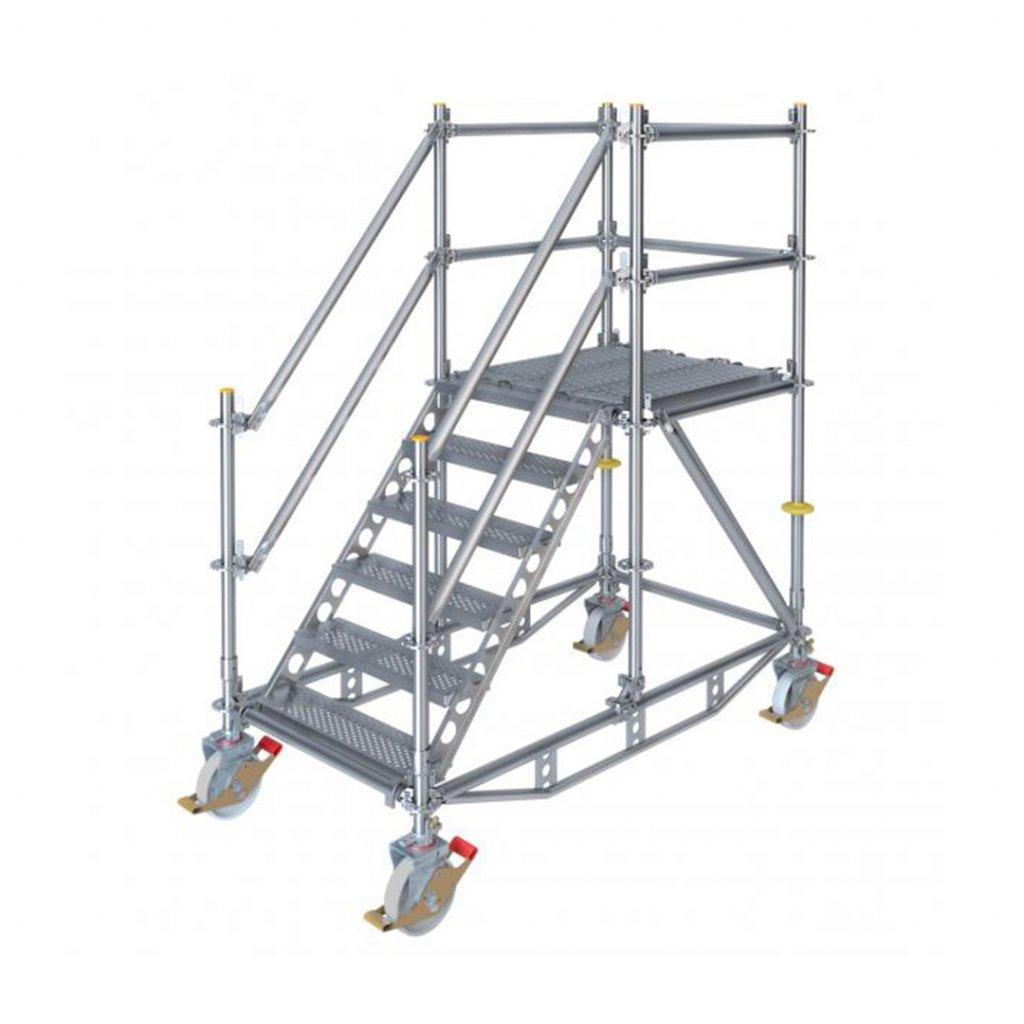 Pojízdné stavební schodiště RUX Ringscaff - výška 1 m