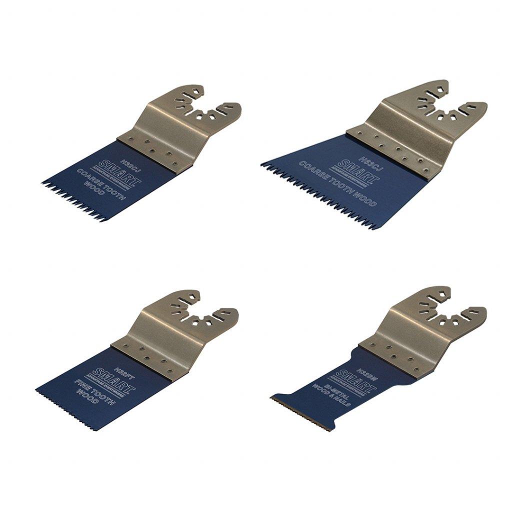 Sada pilových listů SMART TRADE pro multifunkční pily 4 kusy 1