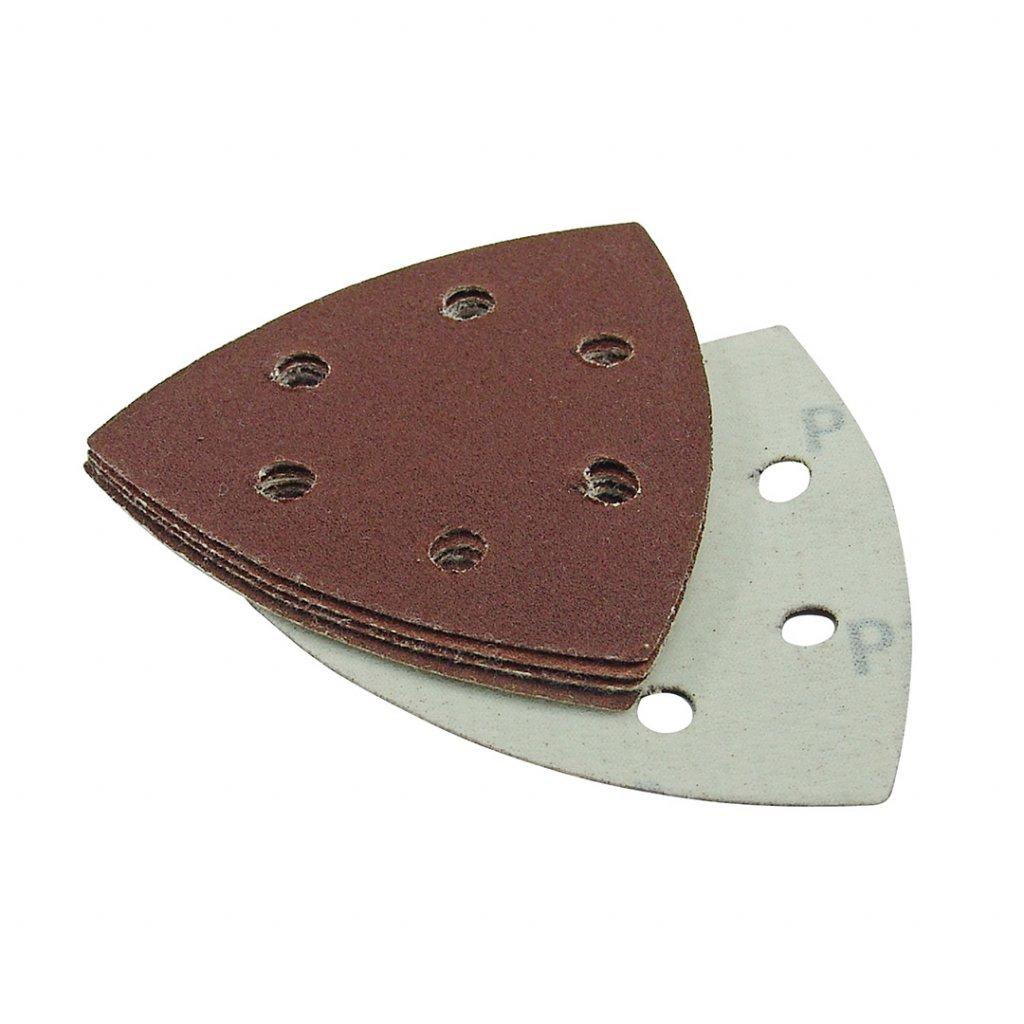 Děrovaný brusný papír SMART TRADE hrubost 120 93 mm 5 kusů 1