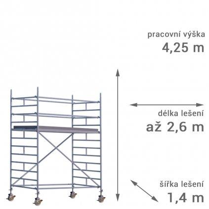 pojizdne leseni rux mobilo 1400 vyska 425 1