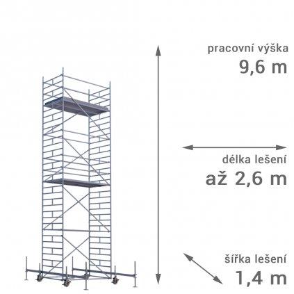 pojizdne leseni rux mobilo 1400 vyska 96 1
