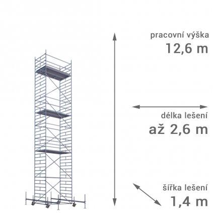 pojizdne leseni rux mobilo 1400 vyska 126 1