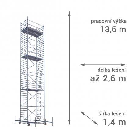 pojizdne leseni rux mobilo 1400 vyska 136 1
