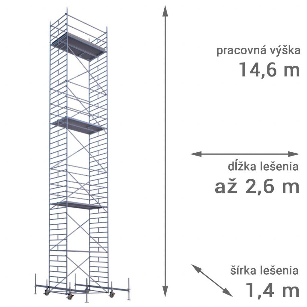 pojizdne leseni rux mobilo 1400 vyska 14 6