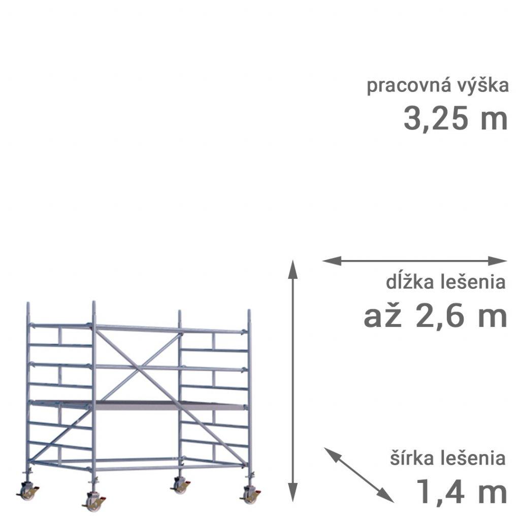 pojazdne lesenie rux mobilo 1400 vyska 3 25