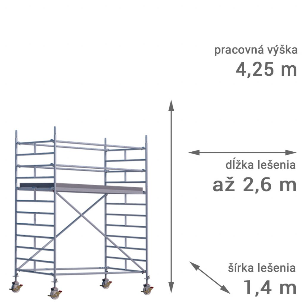 pojazdne lesenie rux mobilo 1400 vyska 4 25