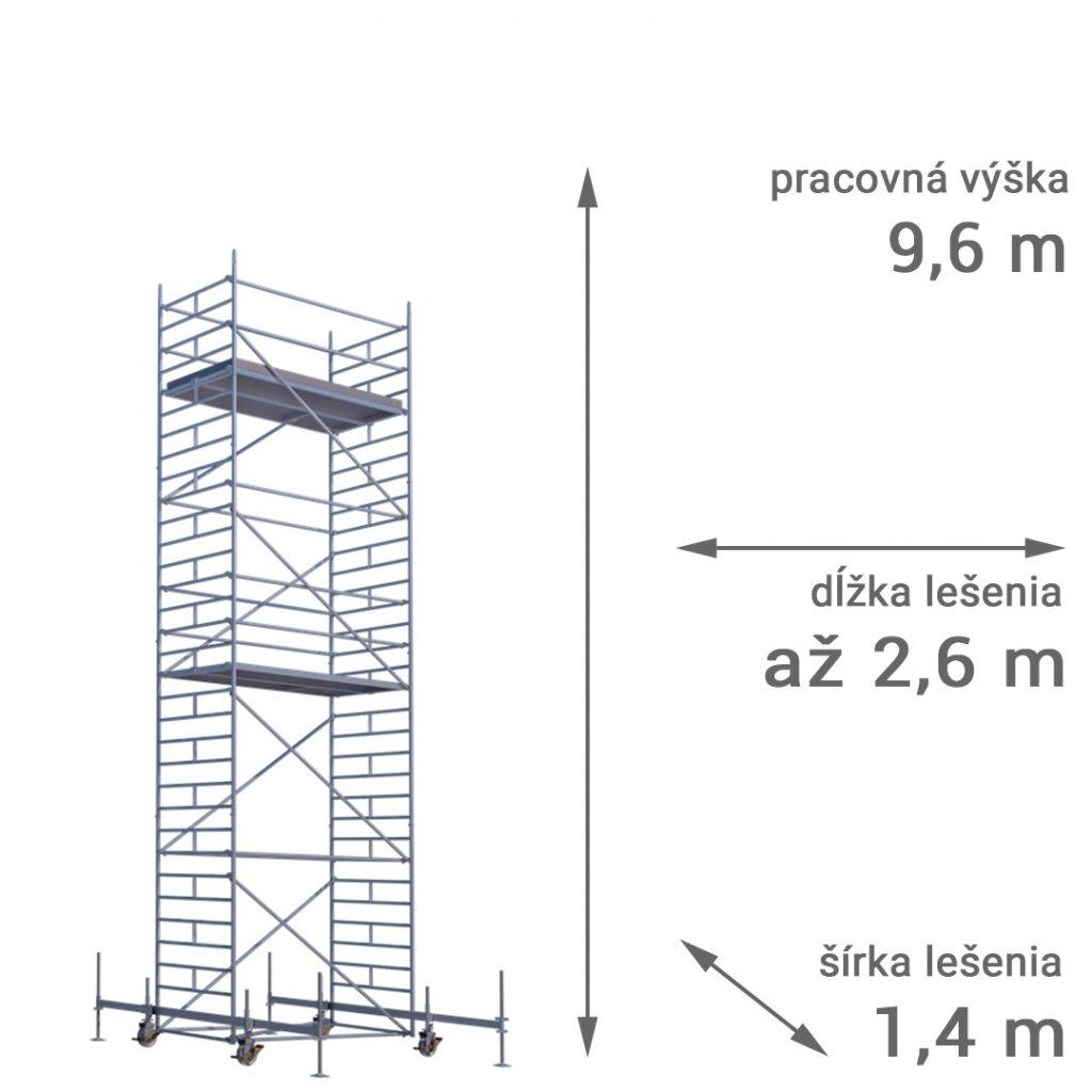 pojazdne lesenie rux mobilo 1400 vyska 9 6