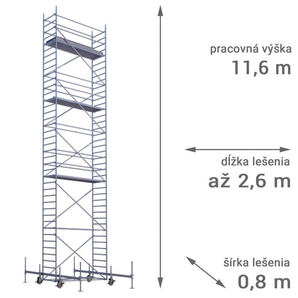 pojazdne lesenie rux mobilo 800 vyska 11 6