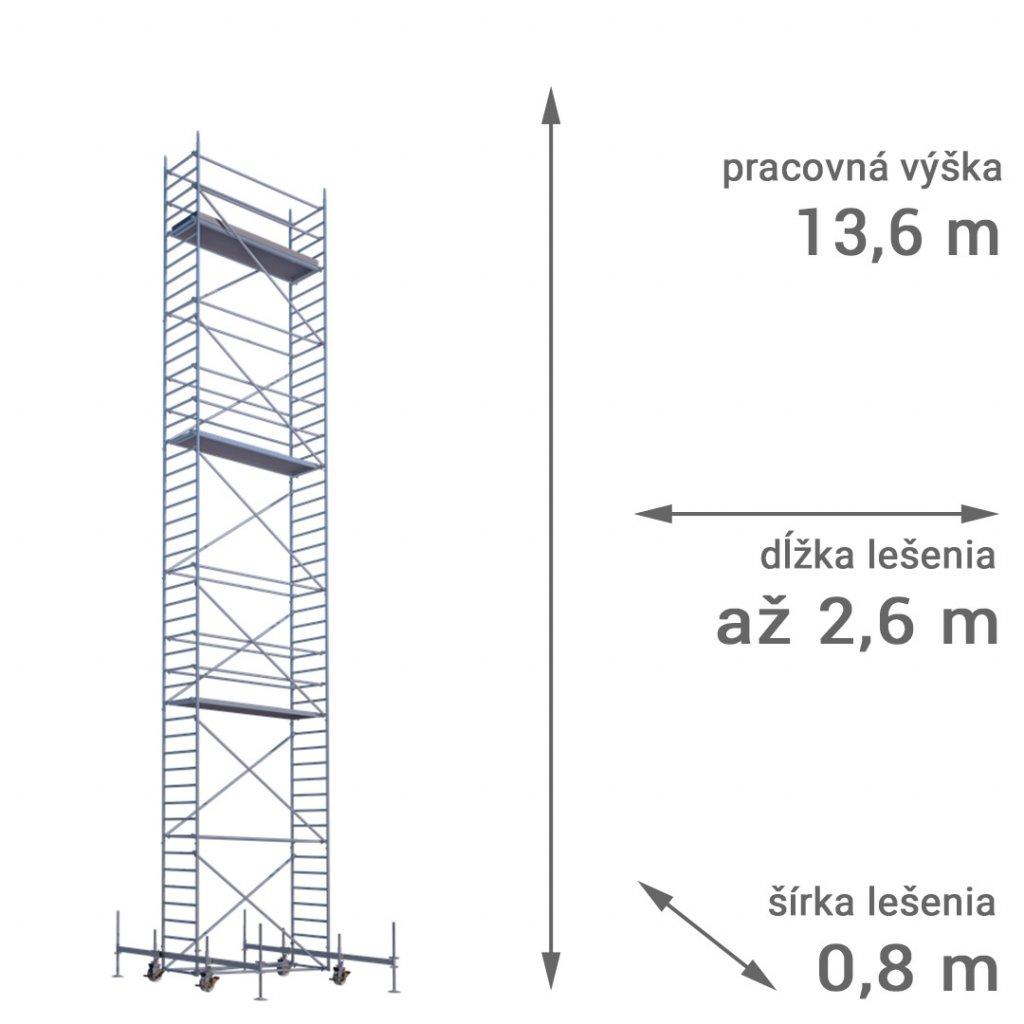 pojazdne lesenie rux mobilo 800 vyska 13 6