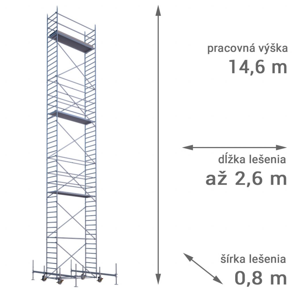 pojazdne lesenie rux mobilo 800 vyska 14 6
