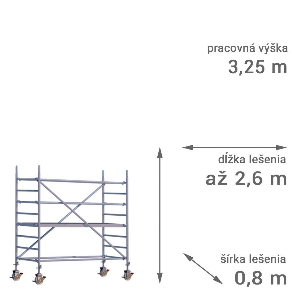pojazdne lesenie rux mobilo 800 vyska 3 25