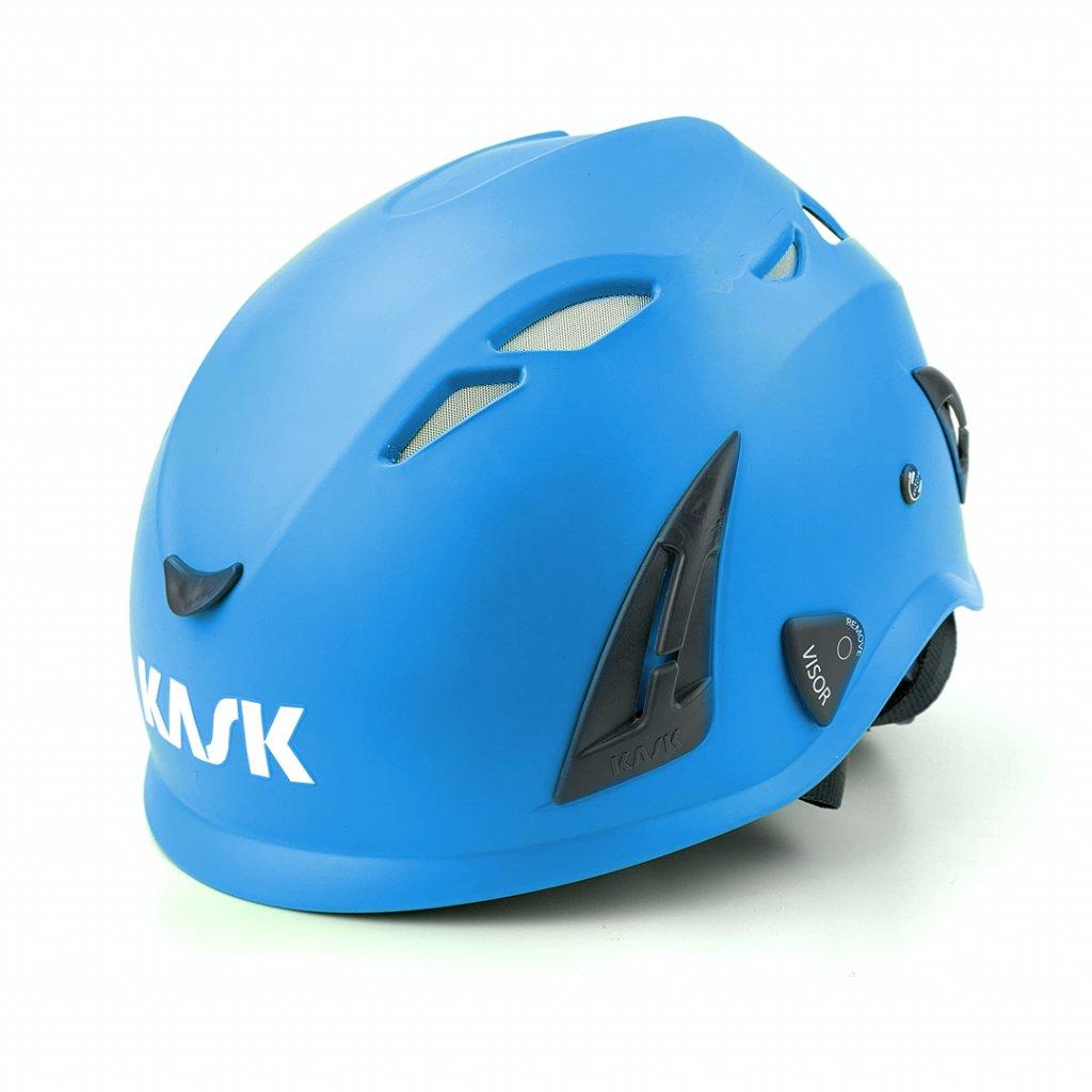 ochranna prilba kask 1 svetlo modra