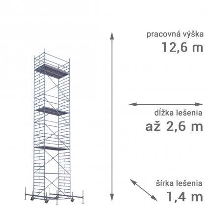 pojazdne lesenie rux mobilo 1400 vyska 12 6