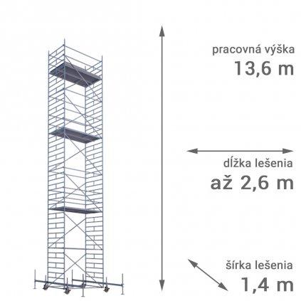 pojazdne lesenie rux mobilo 1400 vyska 13 6
