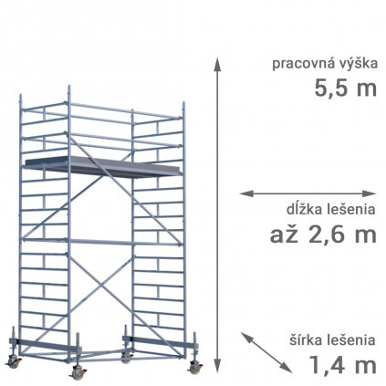 pojazdne lesenie rux mobilo 1400 vyska 5 5