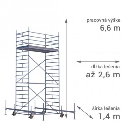 pojazdne lesenie rux mobilo 1400 vyska 6 6