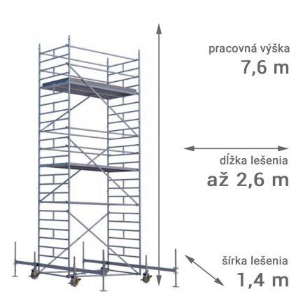 pojazdne lesenie rux mobilo 1400 vyska 7 6