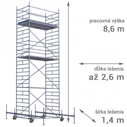 pojazdne lesenie rux mobilo 1400 vyska 8 6