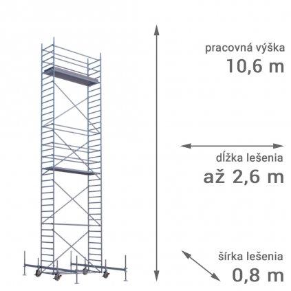 pojazdne lesenie rux mobilo 800 vyska 10 6